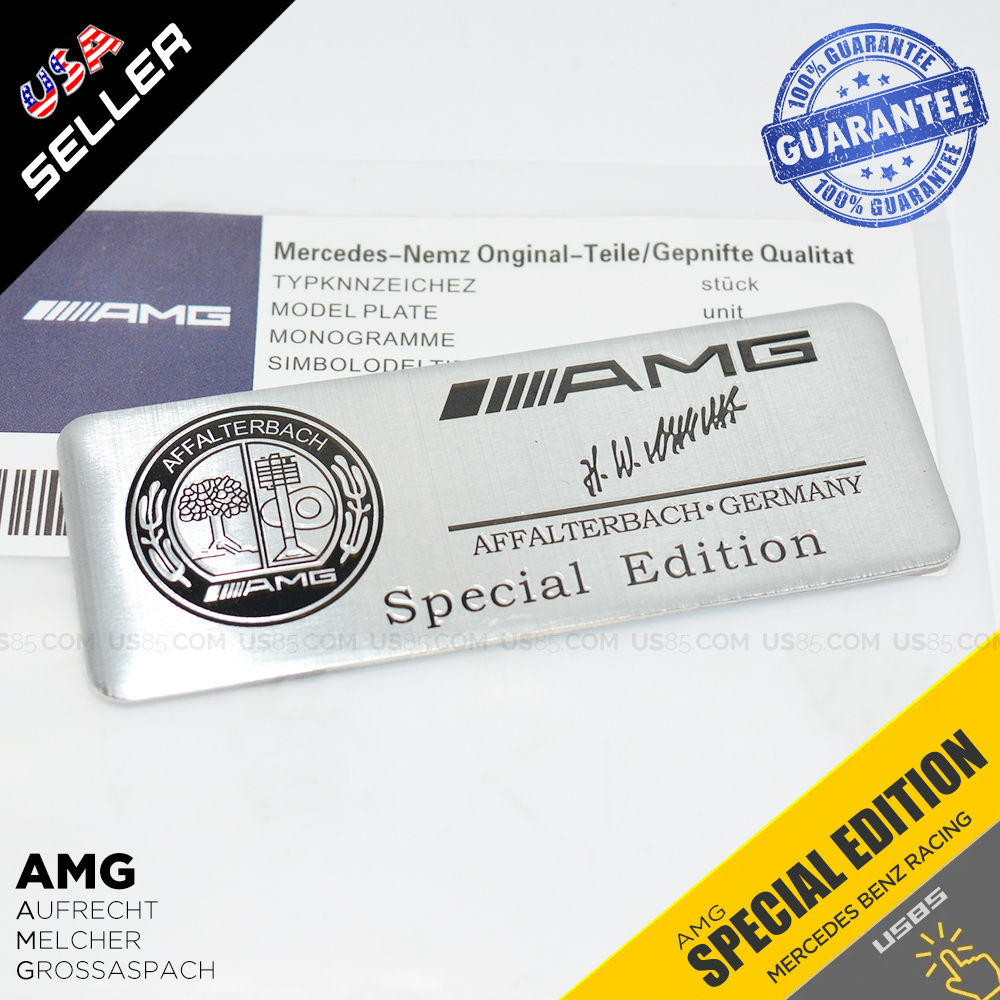 Mercedes-Benz Car 3D AMG Special Edition Interior Decal Sticker Badge  Decoration Logo Gift B&W