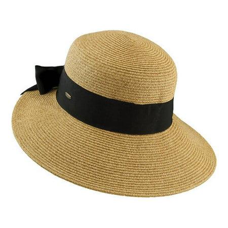 Scala Paper Braid - Women's Scala LP19 Paper Braid Dimensional Brim Hat