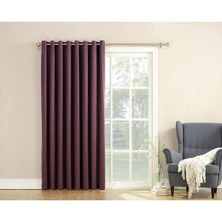 barrow energy efficient patio door curtain panel 100 x 84 plum purple light reducing. Black Bedroom Furniture Sets. Home Design Ideas