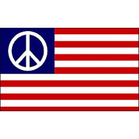 USA Peace Flag Peace Sign Symbol Banner Hippie New Indoor Outdoor 3x5