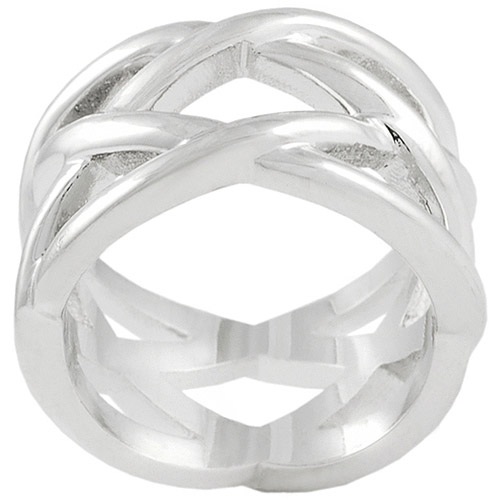 Brinley Co. Criss Cross Ring in Sterling Silver