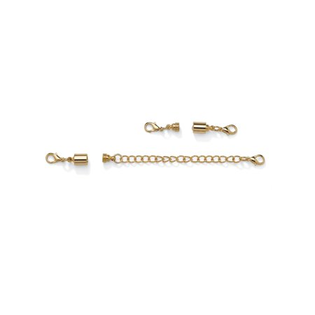 Magnetic Clasp and Chain Extender Set in Yellow Gold Tone