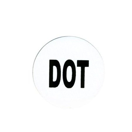"DOT, Officially Licensed Exceptional Quality - 1"" Die-Cut Vinyl Motorcycle HELMET STICKER DECAL"
