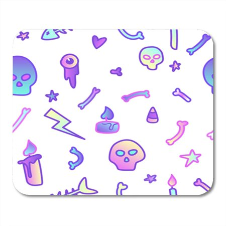 SIDONKU Cute in Pastel Colors on White 80S Goth Great for Halloween Party and Flyers Mousepad Mouse Pad Mouse Mat 9x10 inch - Walmart Flyer Halloween