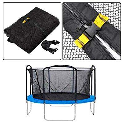 premium enclosure safety net replacement for trampoline - 15 foot w/ 4 arch supports