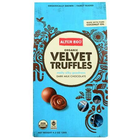 Image of Alter Eco Organic Velvet Truffles Dark Milk Chocolate 4.2 oz