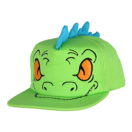 Rugrats Hat Reptar Snapback Bigface Dad Nickelodeon Adult Costume Pop Cap OSFM