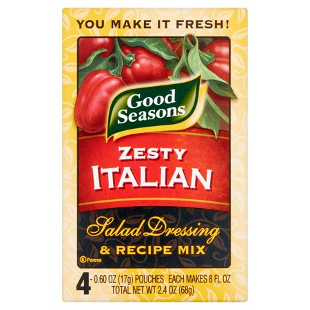 Good Seasons Zesty Italian Salad Dressing & Recipe Mix, 2.4 oz, 4 count