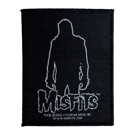 Misfits Danzig Silhouette Patch Punk Rock Band Music Woven Sew On - Halloween Misfits Danzig