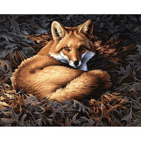 """Paint Works Paint By Number Kit 20""""X16""""-Sunlit Fox - image 5 de 5"""