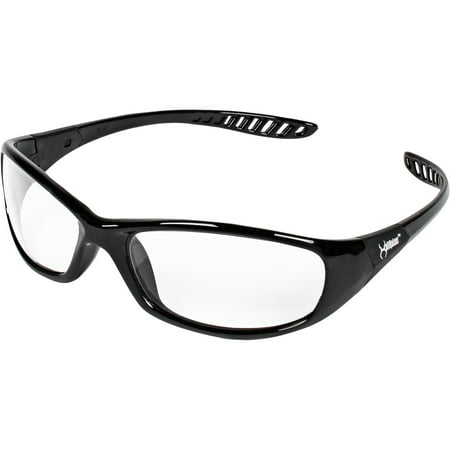 KleenGuard V40 Hellraiser Safety Eyewear, Clear Lens, Black Frame, 1 Each (Quantity)