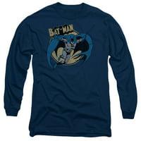 BATMAN/THROUGH THE NIGHT - L/S ADULT 18/1 - NAVY - LG