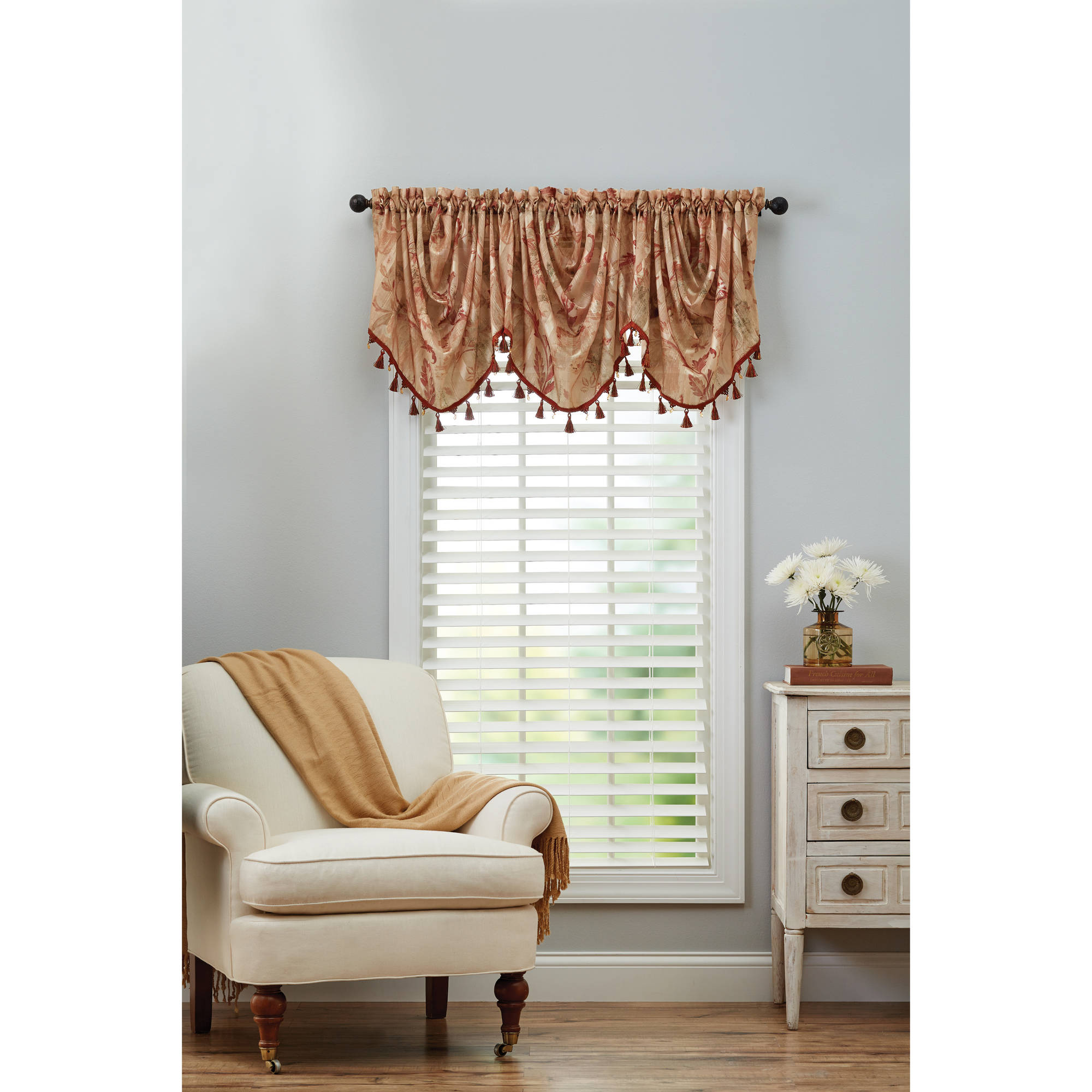 Better Homes and Gardens Eva Trumpet Scroll Valance by