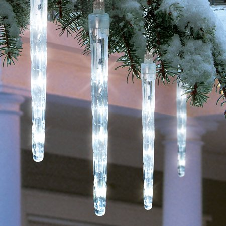 Holiday Time Battery Operated 8 Piece Led Dripping Icicle