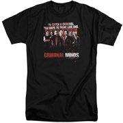 Criminal Minds Think Like One Mens Big and Tall Shirt