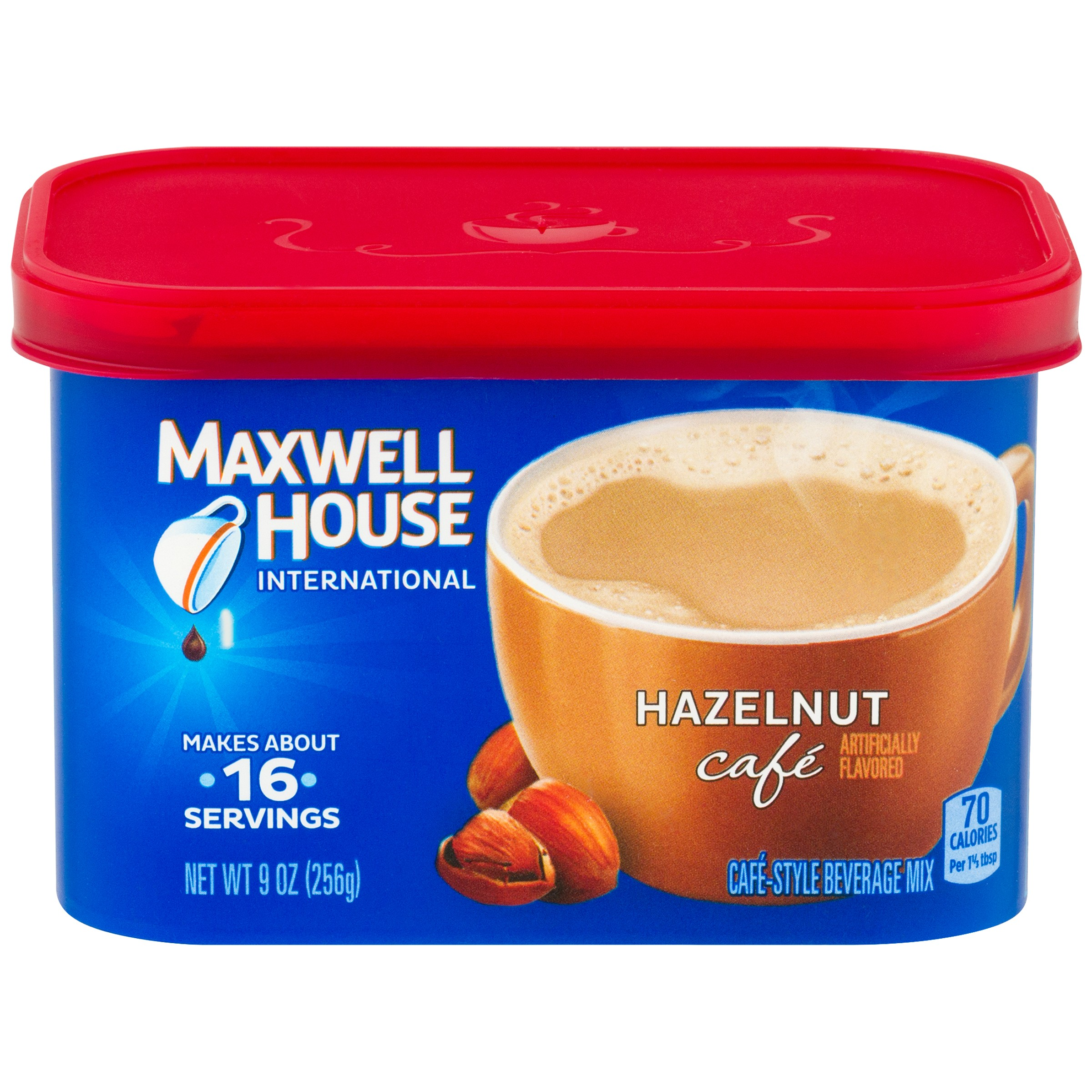 (4 Pack) Maxwell House International Hazelnut Coffee, 9 oz Canister