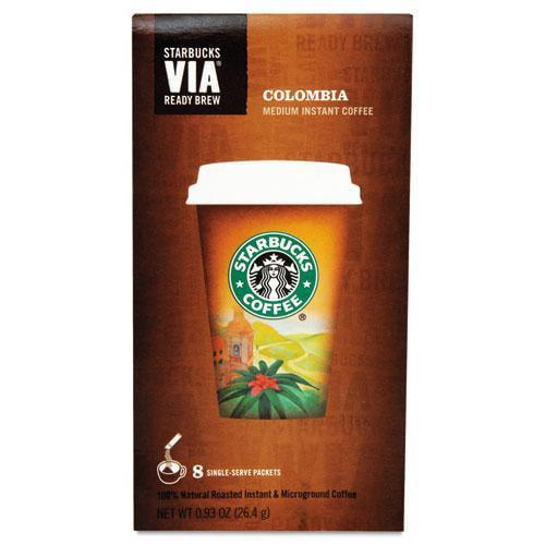 Starbucks 11019881 VIA Ready Brew Coffee, 3 25oz, Colombia, 8 Box by Starbucks Corporation