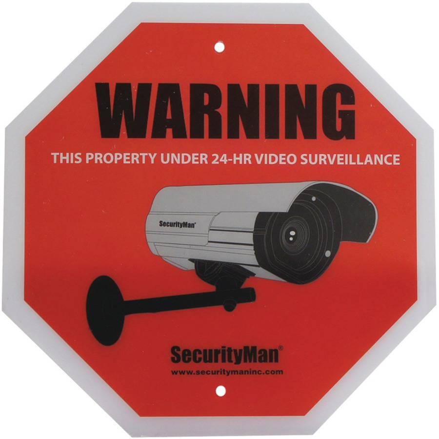 Mace Group Securityman Sign 2pk - en 2pcs Pack Surveillance Warning