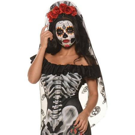 Day Of The Dead Mantia Adult Halloween Accessory - Day Of The Dead Faces For Halloween