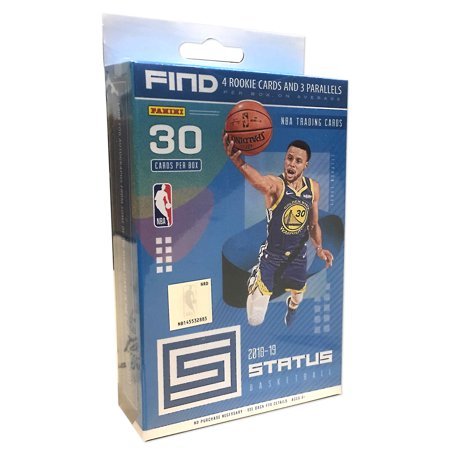 2018-19 Panini Status NBA Basketball Trading Cards hanger Box- Featuring Top NBA Rookies |Steph Curry |Panini Parallels Classic Toys Trading Cards