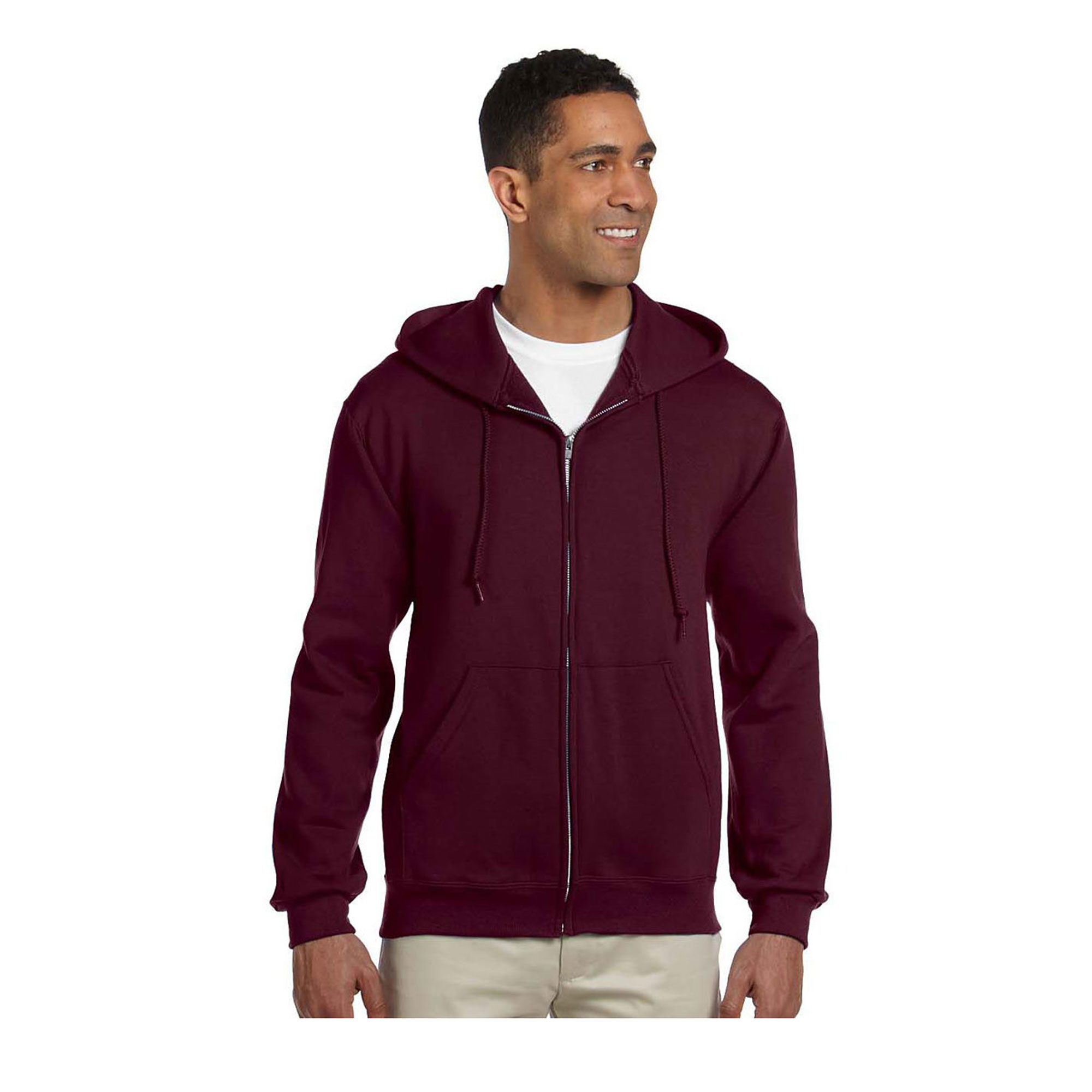Jerzees Men's Front Pouch Pockets Hooded Sweatshirt, Styl...