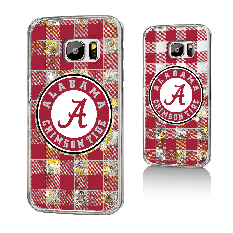 UA Alabama Crimson Tide Plaid Glitter Case for Galaxy S7