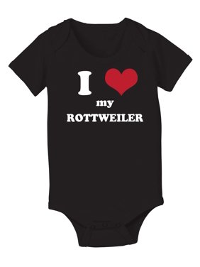 I Love (heart) Rottweiler Cool Funny Youth Tee Juvy Tshirt