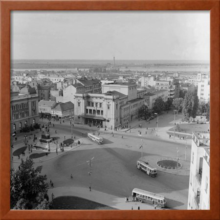 Aerial View Of The Square Of The Republic Framed Photographic Print Wall Art By Julius Humi