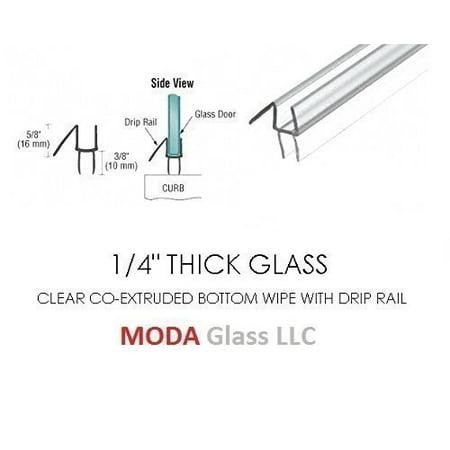 14 Frameless Glass Shower Door Sweep Bottom Seal Wipe Drip