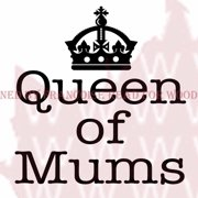 """Woodware Clear Stamps 3.5""""X3.5""""-Queen Of Mums"""