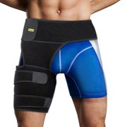 Dilwe Thigh Compression Sleeve Hip Support Wrap, Groin Support Brace Hamstring Hip Injury Leg Waist Support Sleeve for Men & Women