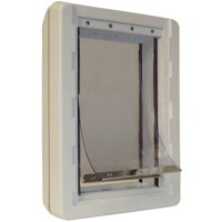 """Ideal Ruff Weather Dog Door, White, X-Large, 21.62""""L x 5.75""""W x 13.94""""H"""