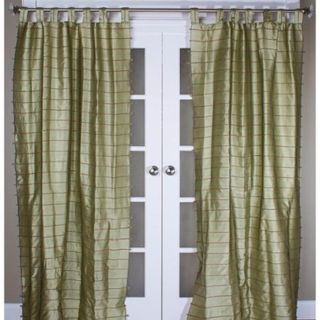 Room With A View Jute Stripe Curtain Panel
