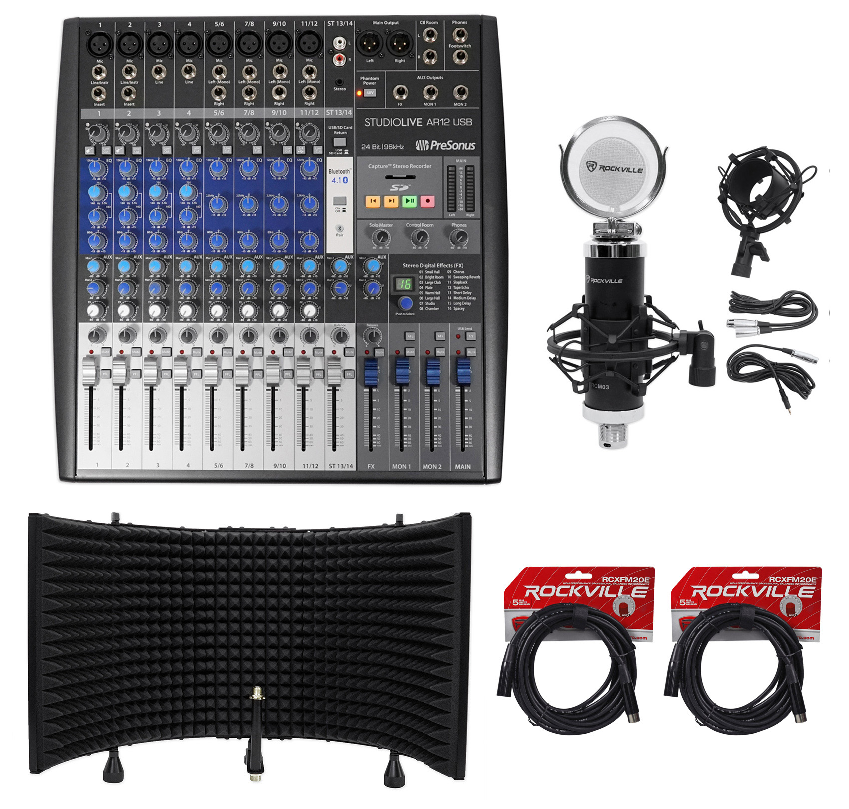 PreSonus StudioLive AR12 14-Ch USB Live Sound/Recording M...