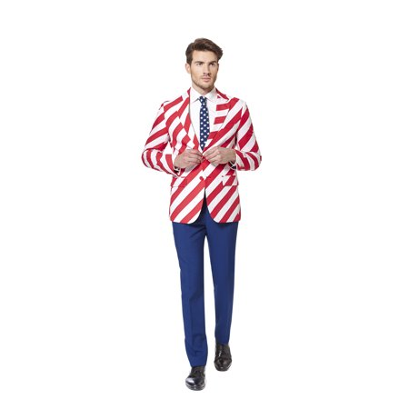 OppoSuits Men's United Stripes Americana Suit - Oppo Suit