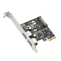 Syba Multimedia Usb3.0 Pcie Host Controller Card - Pci Express 2.0 X1 - Plug-in Card - 2 Usb Port[s] (sd-pex20160)