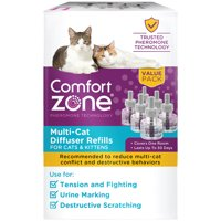 Comfort Zone Multicat Calming Diffuser Refill, 48 ml- 6 Pack, 180 Day Use