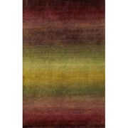 Bay Isle Home Cece Hand Knotted Wool Burgundy Ombre Area Rug