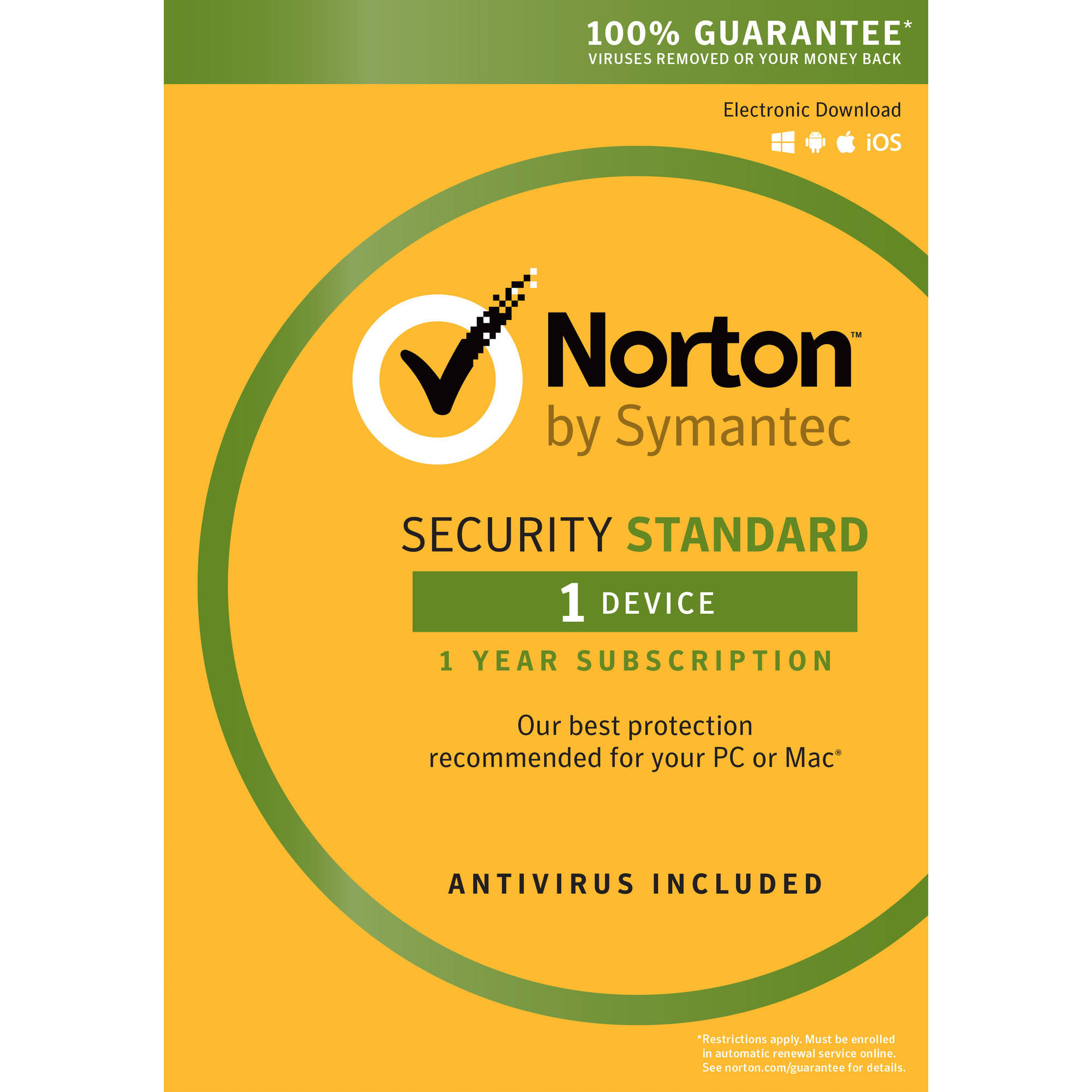 Norton Security Standard, 1 User, 1 Device, 1 Year