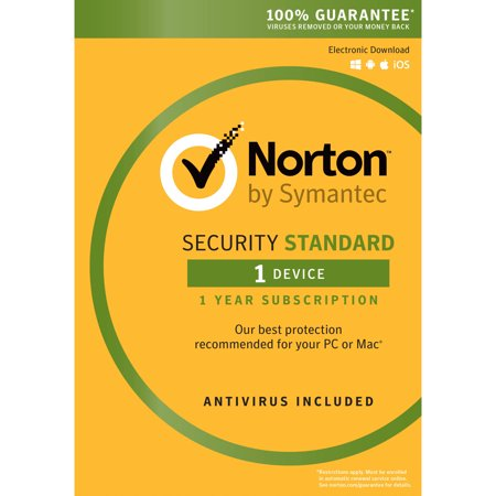 Norton Security Standard  1 User  1 Device  1 Year