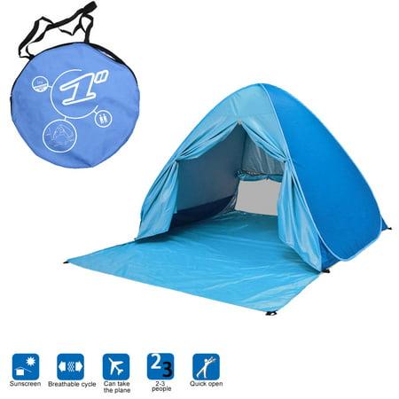 Egmy Outdoor Instant Portable Cabana 2-3 Person Anti UV Beach Tent Beach Shelter