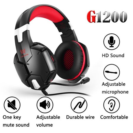 KOTION EACH G1200 Portable 3.5mm Audio Jack Gaming Headphone Headband with Mic Stereo Bass Game Playing Headset