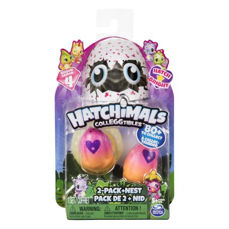 Hatchimals CollEGGtibles, 2 Pack + Nest with Season 4 Hatchimals CollEGGtible, for Ages 5 and Up (Styles and Colors May Vary)