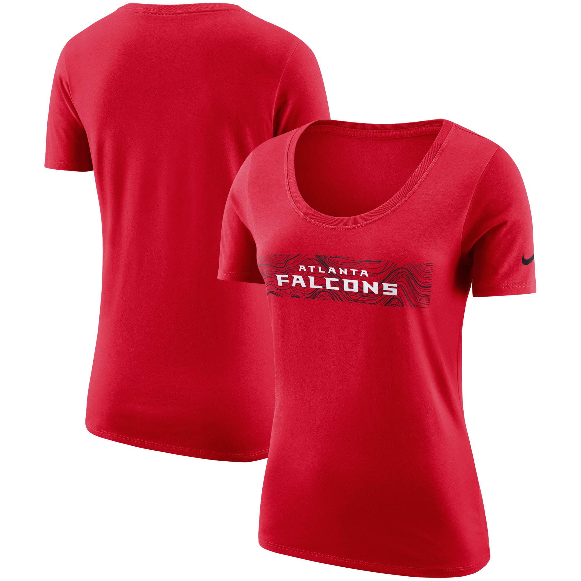 Atlanta Falcons Nike Women's Sideline Team T-Shirt - Red