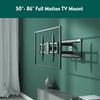 onn. Full Motion TV Wall Mount for 50
