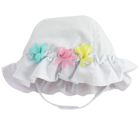 Little Me - Little Me White with Flowers Baby Girls Quick Dry Sun Hat For  Swimming 3-9 Mths - Walmart.com 20bb378435d