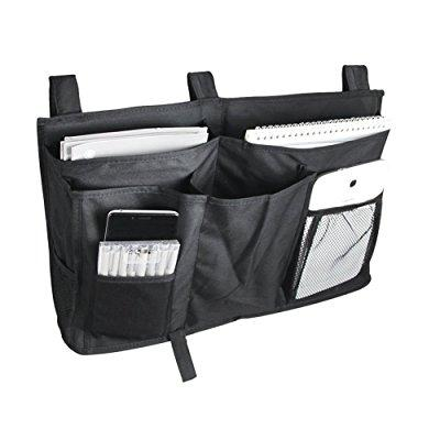 chris-wang 8 pockets bedside caddy - hanging storage orga...