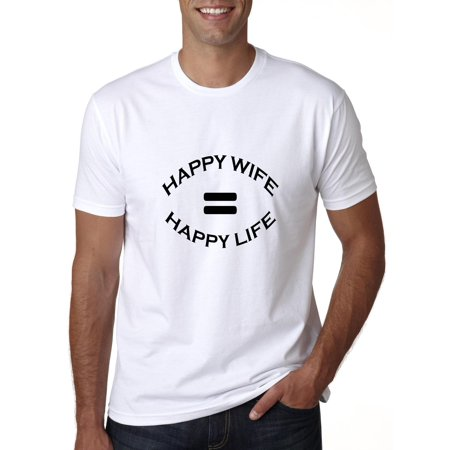 Hilarious Happy Wife Equals Happy Life Men's T-Shirt - Hilarious Happy Halloween Memes