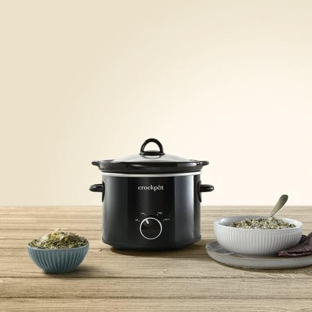 Crock-Pot 2 Quart Round Manual Slow Cooker, Black