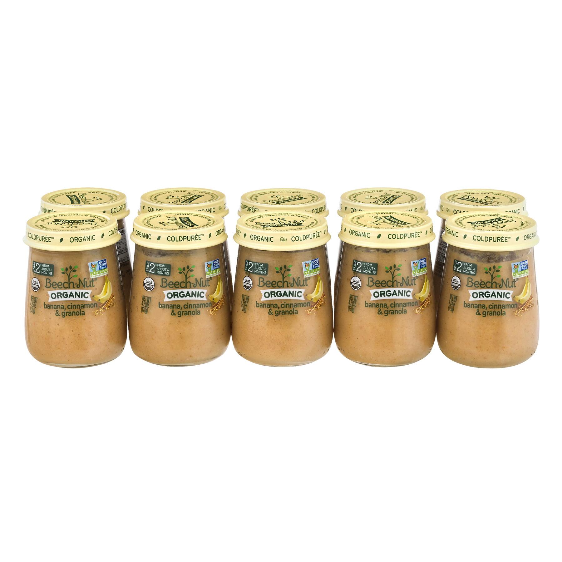 Beech-Nut Organic; Stage 2 Banana, Cinnamon & Granola Baby Food, 4.25 oz, (Pack of 10)